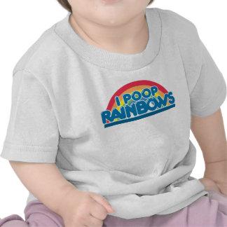 I camiseta del bebé de los arco iris del impulso