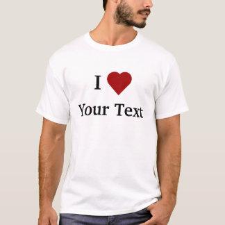 I camiseta del corazón (personalice)