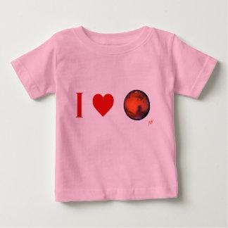 I camiseta del niño de Marte del corazón Polera