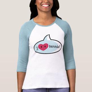 I camiseta del tenis del corazón