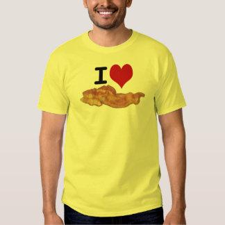 I camiseta del tocino del corazón polera