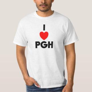 I camiseta del valor del corazón PGH Playeras