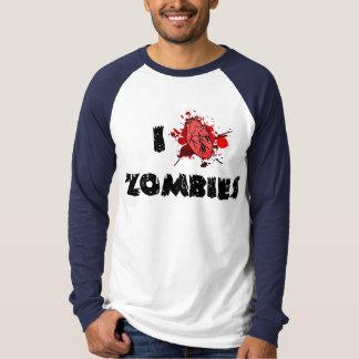 I camiseta larga de la manga de los zombis del poleras