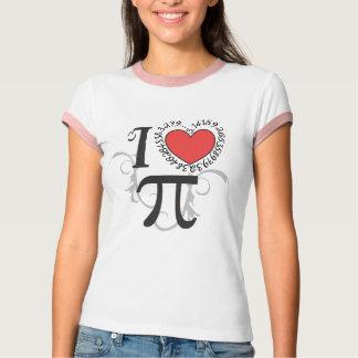 I camisetas del corazón (amor) pi - día del pi