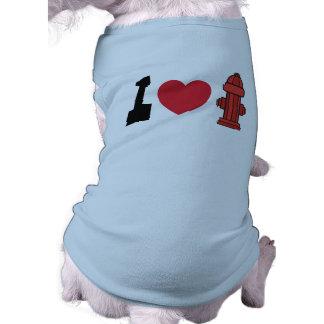 I camisetas del perro de las bocas de incendios playera sin mangas para perro
