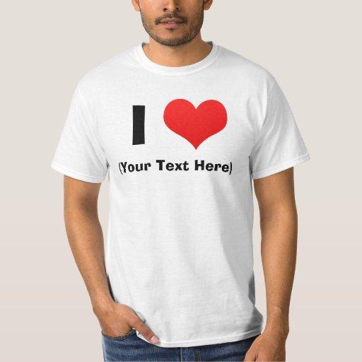 I camisetas personalizadas corazón playeras