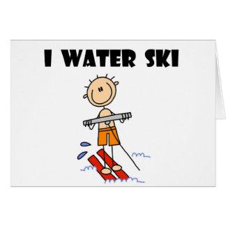 I camisetas y regalos del esquí acuático tarjeta de felicitación