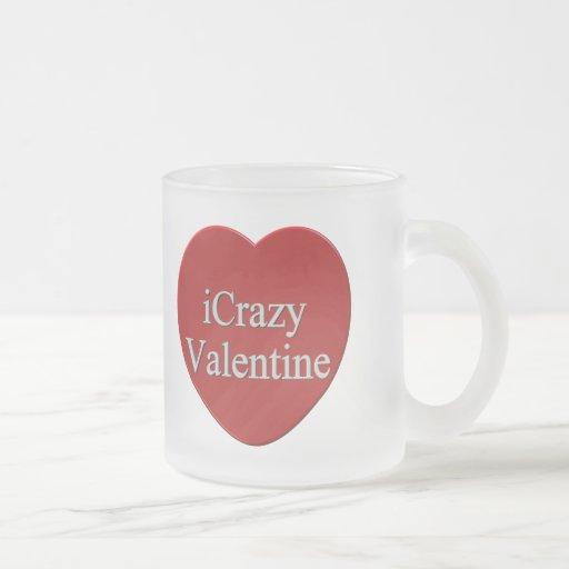 I camisetas y regalos locos del día de San Valentí Taza Cristal Mate