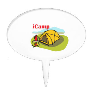 I CAMP CAKE TOPPERS