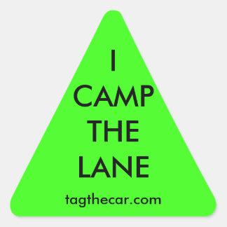I Camp the Lane Triangle Sticker