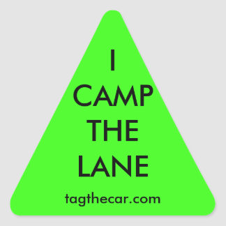 I Camp the Lane Triangle Sticker