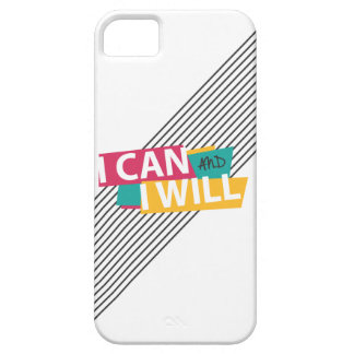"""""""I CAN AND I WILL"""" Eighties Typography iPhone 5 Covers"""