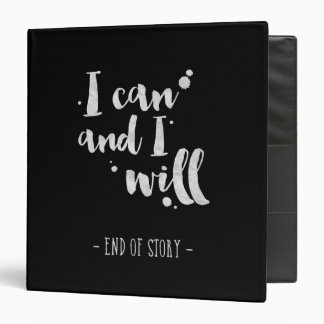 I Can And I Will - Inspirational Binder