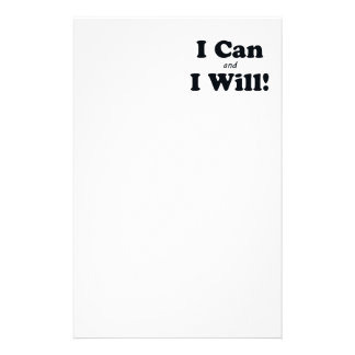 I Can and I Will Stationery