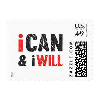 I Can And I Will | Vintage Look Stamp