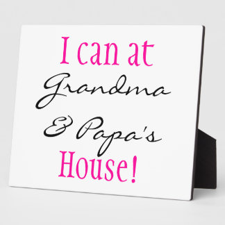 I can at .. display plaque