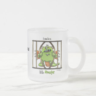 I can be a little Monster 10 Oz Frosted Glass Coffee Mug