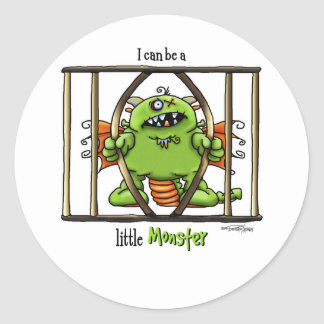 I can be a little Monster Classic Round Sticker