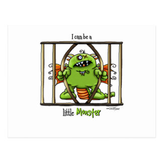 I can be a little Monster Postcard