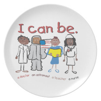 """""""I can be"""" plates for kids"""