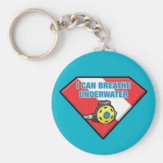 I Can Breathe Underwater Basic Round Button Keychain