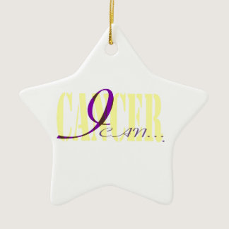 I Can. . . Cancer Ceramic Ornament