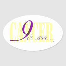 I Can. . . Cancer Oval Sticker