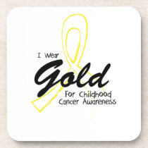 I Can Chang Future Childhood Cancer Awareness Beverage Coaster
