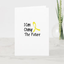 I Can Chang Future Childhood Cancer Awareness Card