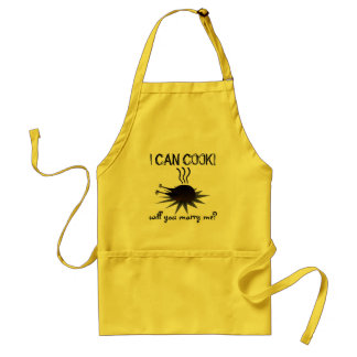 I can cook! Will you marry me? Adult Apron