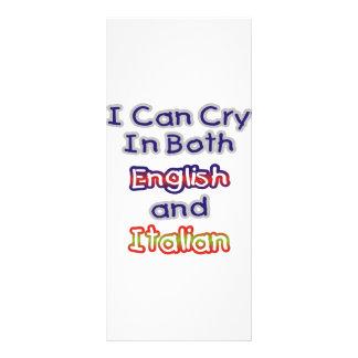 I can Cry In Both English and Italian Custom Rack Card