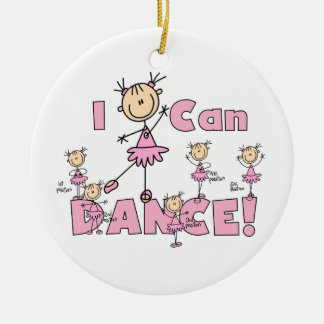 I Can Dance T-shirts and Gifts Double-Sided Ceramic Round Christmas Ornament