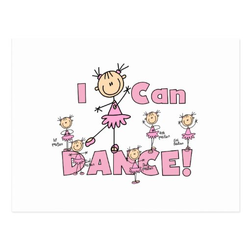 I Can Dance T-shirts and Gifts Postcards