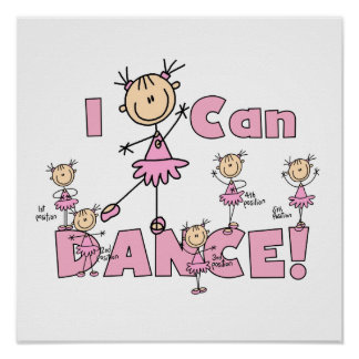 I Can Dance T-shirts and Gifts Poster