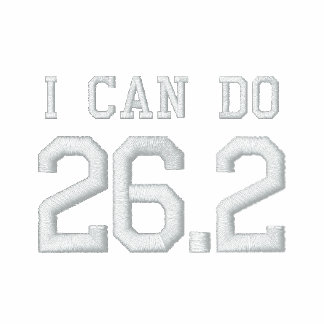 I can do 26.2 -- Can you? Embroidered Track Jackets