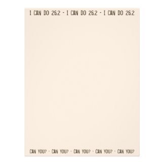 I can do 26.2 -- Can you? Letterhead