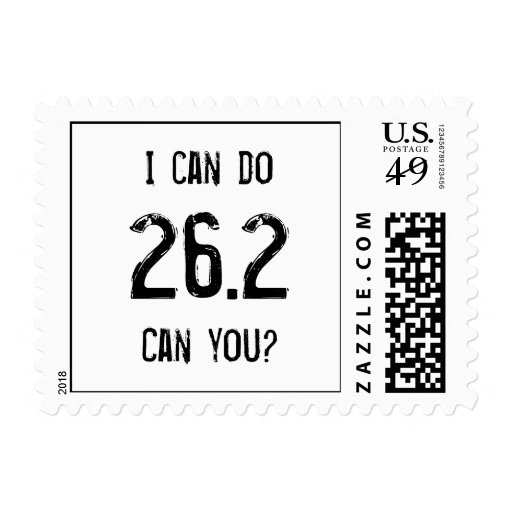 I can do 26.2 -- Can you? Postage Stamp