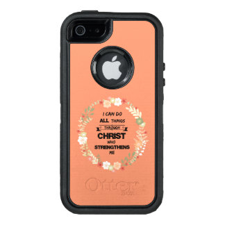 I Can Do All Things Bible Verse OtterBox iPhone 5/5s/SE Case
