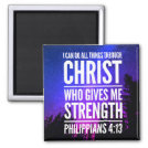 I Can Do All Things Christian Bible Verse Magnet