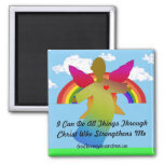 I Can Do All Things Through Christ 2 Inch Square Magnet