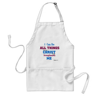 I can do all things through christ. adult apron