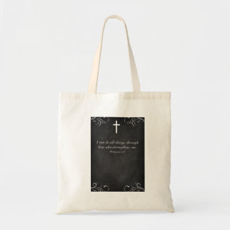 I can do all things through Christ Baby Shower Tote Bags