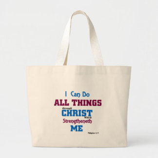 I can do all things through christ. canvas bag
