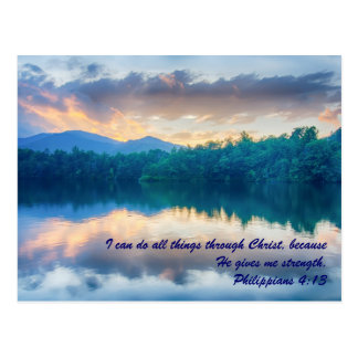 I can do all things through Christ, because he giv Postcards