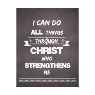 I Can do all things through Christ Bible Verse Gallery Wrap Canvas