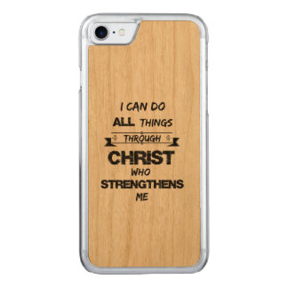 I Can do all things through Christ Bible Verse Carved iPhone 7 Case