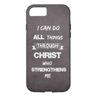 I Can do all things through Christ Bible Verse iPhone 7 Case