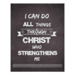 I Can do all things through Christ Bible Verse Print