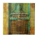 I can do all things through Christ BIBLE VERSE Small Square Tile