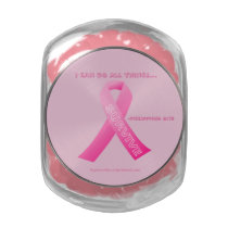 I can do all things through Christ Breast Cancer Glass Candy Jar